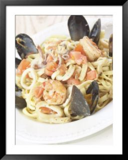 Plate of Seafood Pasta Pre made Frame