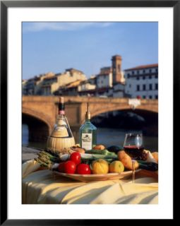 Tuscany Food and Wine, Florence, Italy Pre made Frame