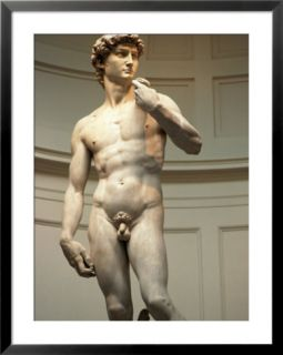 Michelangelos Statue of David, Florence, Italy Pre made Frame