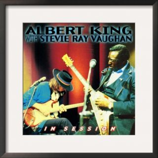 Albert King with Stevie Ray Vaughan   In Session Framed Photographic Print