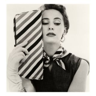 Barbara Miura with Madame Crystal Handbag and Neck Tie, 1953 Giclee Print by John French