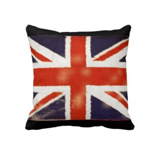 UK Flag Vintage Union Jack Throw Pillow