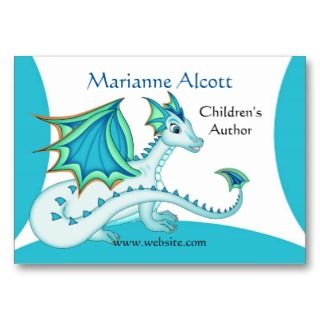 Little Blue Dragon Profile Card Business Card