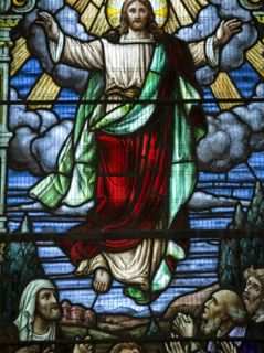 Stained Glass Window, St. James Anglican Church Circa 1628, Holetown, Barbados, West Indies Photographic Print by Richard Cummins