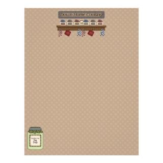 Down Home Cooking Recipe Pages 2 (Un Lined) Personalized Letterhead