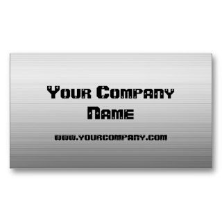 Brushed Metal Plate Business Cards