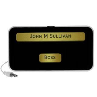 Brass Name Plate Effect For Bosss Desk Speaker