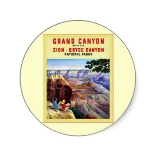 Grand Canyon ~ Vintage Travel Poster Stickers