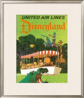 United Airlines Disneyland in Anaheim, California, c.1960s Framed Giclee Print