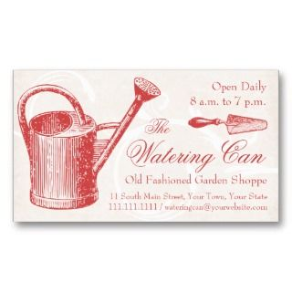 business cards for florist shop, gardener, landscape designer. an