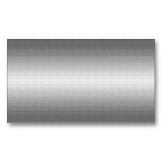 Brushed Silver Metal  Business Cards