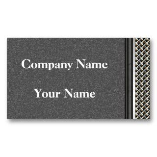 Graphite Carbon Metal Border Business Cards