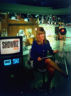 Laurin Sydney Hosting CNN TV Entertainment News Show Showbiz Today, on Studio Set in NYC Premium Photographic Print by Ted Thai