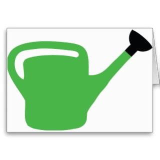 illustration of a green gardener watering can design  products