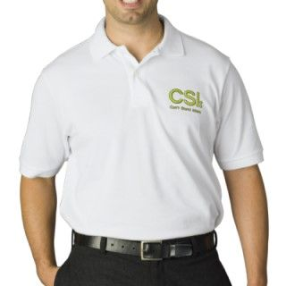 Embroidered Polo Shirt CSI Cant Stand Idiots