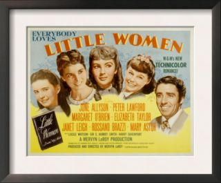 Little Women, Margaret OBrien, Janet Leigh, Elizabeth Taylor, June Allyson, Peter Lawford, 1949 Pre made Frame