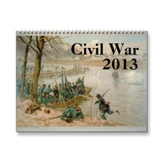 2013 calendar featuring imagery the American Civil War.