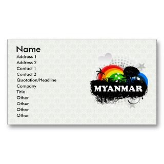 Cute Fruity Myanmar Business Card Templates