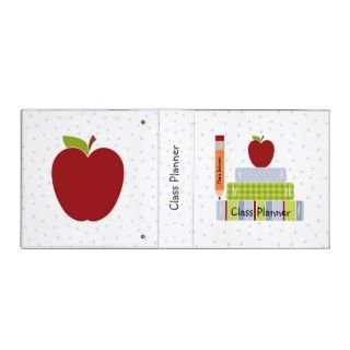 School Books Teachers Class Planner Vinyl Binders
