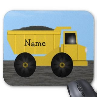 Name Dump Truck Mousepad   Template