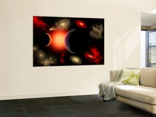 Artists Concept of the Cosmic Wonders of the Universe Wall Mural by Stocktrek Images