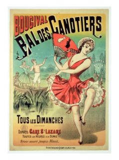 Poster for the Bal Des Canotiers, Bougival (Colour Litho) Giclee Print by French