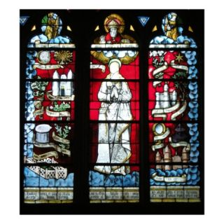God and the Virgin (Stained Glass) Giclee Print by French