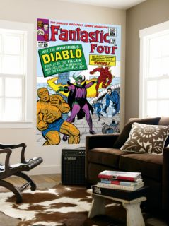 The Fantastic Four #30 Cover Mr. Fantastic Laminated Oversized Art by Jack Kirby