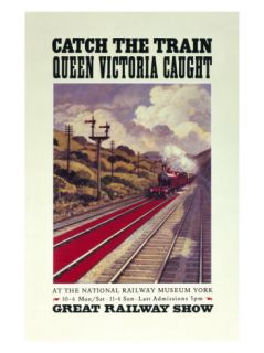 Catch the Train Queen Victoria Caught Giclee Print