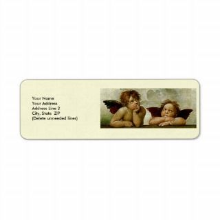 Sistine Madonna (detail) Custom Return Address Label