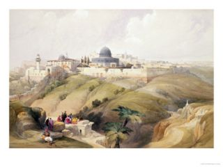 Jerusalem, April 9th 1839, Plate 16 from Volume I of The Holy Land Giclee Print by David Roberts