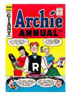 Archie Comics Retro Archie Annual Comic Book Cover 10th Issue (Aged) Print