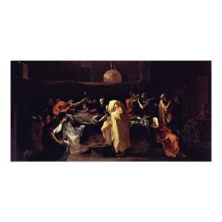 Last Rites By Poussin Nicolas (Best Quality) Photo Greeting Card