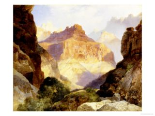 Under the Red Wall, Grand Canyon of Arizona, 1917 Giclee Print by Thomas Moran