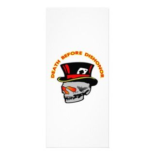 Death Before Dishonor Skull & Tophat Personalized Rack Card