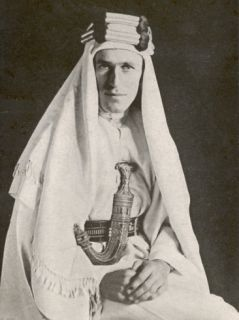 T E Lawrence (Lawrence of Arabia) in Desert Robes Photographic Print
