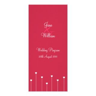 Simple, Modern Pink Love Hearts Rack Card Template