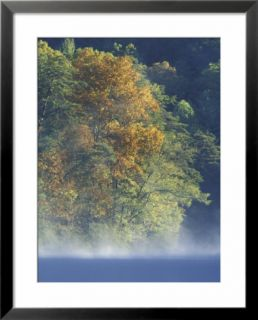 Autumn Colors on Millcreek Lake at Dawn, Daniel Boone National Forest, Kentucky, USA Pre made Frame