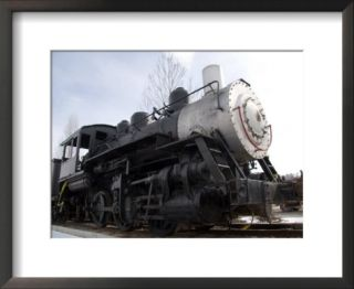 An Old Steam Engine Sits on a Siding Pre made Frame