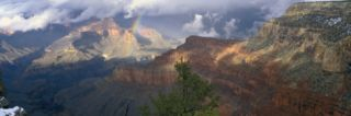 Rainbow and Cloud Over the Mountain, Grand Canyon National Park, Arizona, USA Wall Decal by Panoramic Images