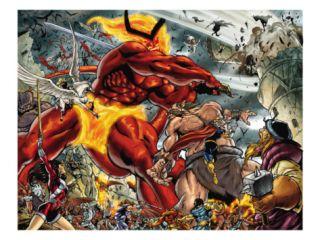 Thor #85 Group Surtur and Beta Ray Bill Print by Andrea Di Vito