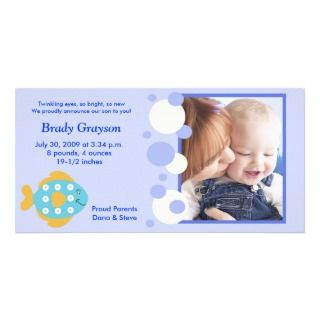 Baby Photo Birth announcement Photo Card Template