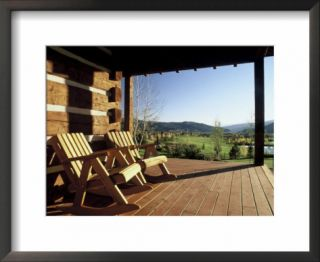 Log Cabin Porch Overlooking a Golf Course Pre made Frame