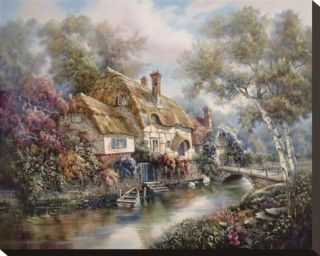 Stonewall Cottage Stretched Canvas Print by Carl Valente