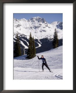 Cross Country Skiing in a Scenic Location Pre made Frame