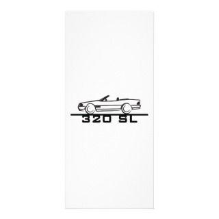 Mercedes 320 SL Type 129 Rack Card Design