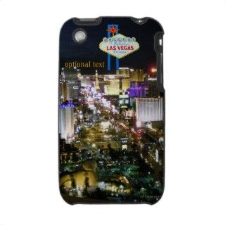 Las Vegas Strip View and Welcome Sign personalized iPhone 3 Cover