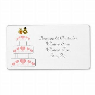 Wedding Cake Wedding Address Label