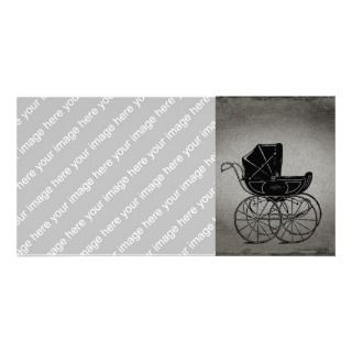Gothic Baby Carriage Photo Card Template