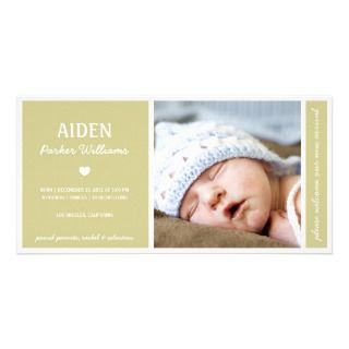 PURE  BABY BIRTH ANNOUNCEMENT PHOTO CARD TEMPLATE